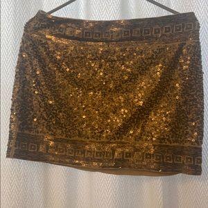 Express gold sequin skirt